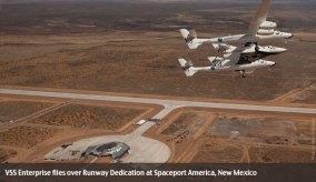 Virgin Spaceport flyover