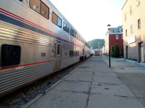 Amtrak Cumberland MD. All aboard!