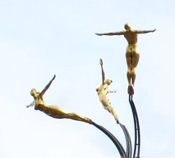 3 soaring divers