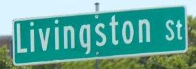 Livingston street sign