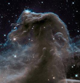 USS Enterprise flight past Horsehead Nebula