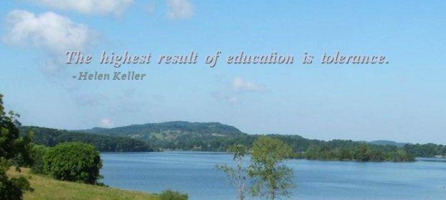 education leads toward tolerance