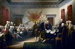 Declaration of Independence draft presented to Congress