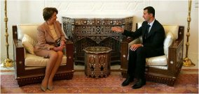 Nancy Pelosi visit with President Bashar al-Assad of Syria in 2007