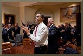 Obama applauding HCRA passage 2010