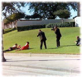 The Newman family just after shots fired - public domain