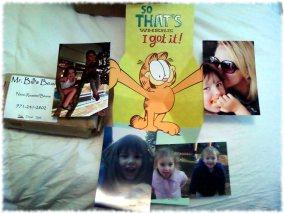 Birthday greetings from daughter and grandchildren