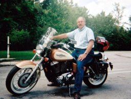 Mike on Honda Shadow 1100