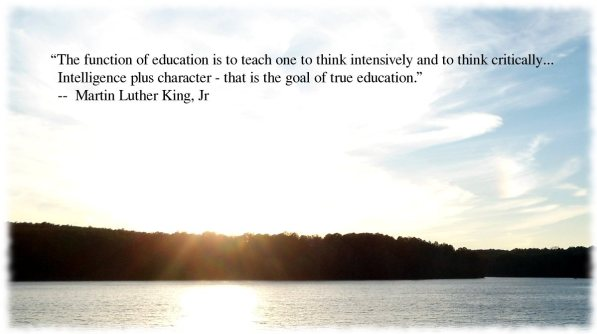 Martin Luther King Jr purpose of education