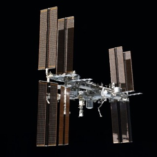 STS-135 flyaround of ISS