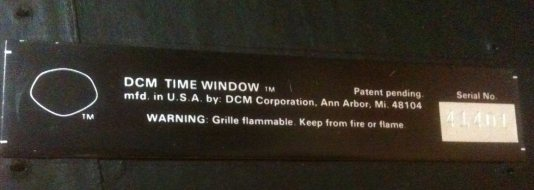 Time Window label back