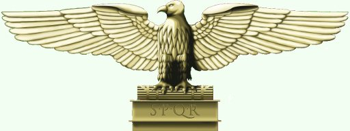 Eagle with stretched wings symbolizing the  authority of the Roman empire