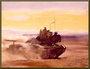 M–48 A3 TANK, OPERATION ALKALI CANYON MCB 29 PALMS, CA. 1973