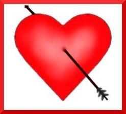 valentine heart pierced