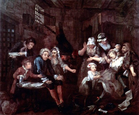 A Rake's Progress is a series of eight paintings by 18th century English artist William Hogarth.