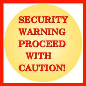 Security warning alert