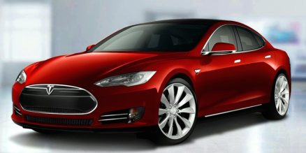 Tesla model S front profile