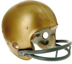 gold plain football helmet