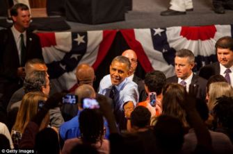 July 9, 2014 Obama campaigns in Austin, TX