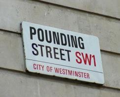 Westminster UK sign -Pounding Street