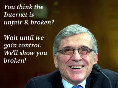FCC Chair Tom Wheeler gloats over the money they will receive for the new rules.