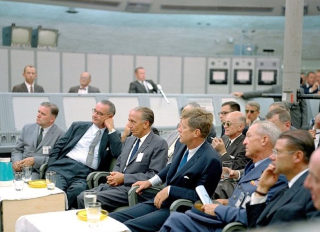JFK with LBJ Cuban missile crisis